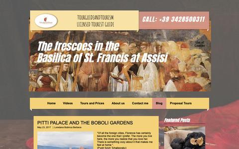 Screenshot of Blog tourguideandtourism.com - Umbria and Florence regions | Blog - captured Oct. 10, 2018