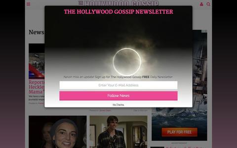 Screenshot of Press Page thehollywoodgossip.com - News - The Hollywood Gossip - captured Dec. 2, 2015