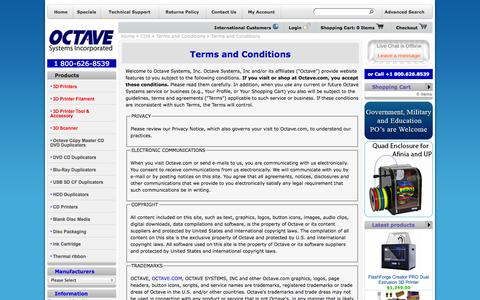 Screenshot of Terms Page octave.com - Information Pages - captured Oct. 9, 2014