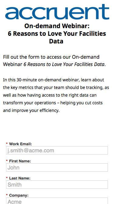 On-demand Webinar | 6 Reasons to Love Your Facilities Data