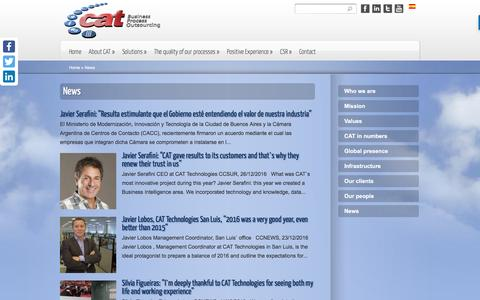 Screenshot of Press Page cat-technologies.com - News | Cat Technologies Argentina - captured May 11, 2017