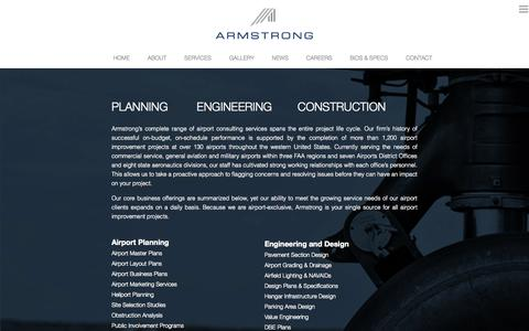 Screenshot of Services Page armstrongconsultants.com - Services  |  Armstrong Consultants Inc. - captured Oct. 4, 2014