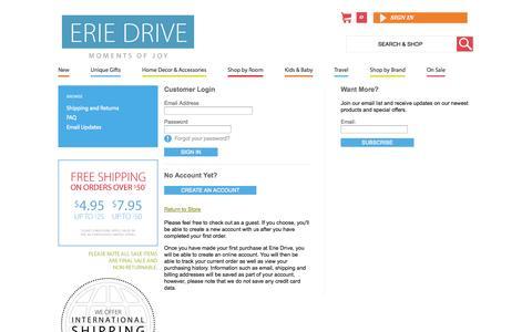 Screenshot of Login Page eriedrive.com - Account  | Erie Drive - captured Sept. 26, 2014