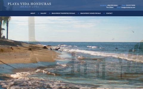 Screenshot of Home Page wptester.com - Honduras Beach Properties | Beach Front Homes - captured Jan. 20, 2016