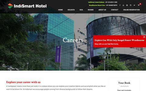 Screenshot of Jobs Page indismart.in - Careers – IndiSmart Hotel - captured Nov. 14, 2018