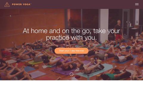 Screenshot of Home Page poweryoga.com - Home - Power Yoga - captured Jan. 19, 2016