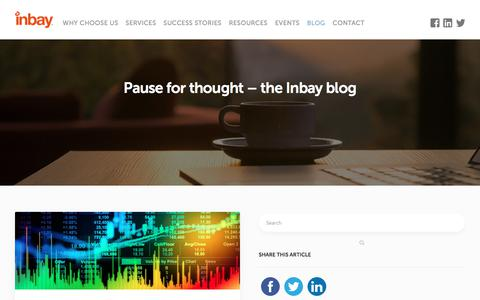 Screenshot of Blog inbay.co.uk - Pause for thought – the Inbay blog - Inbay - captured May 15, 2018