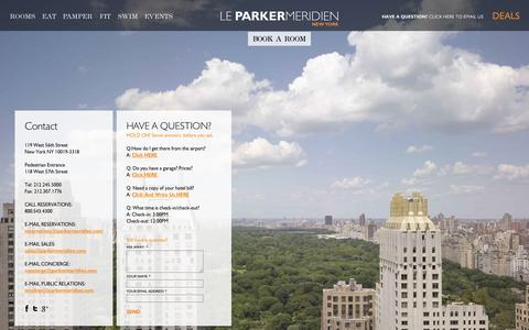 Screenshot of Contact Page parkermeridien.com - Contact Us @ Le Parker Meridien Hotel NY - captured Oct. 27, 2014