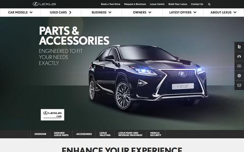 Lexus Parts & Accessories | Lexus UK