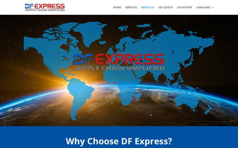 Screenshot of About Page deltafillexpress.com - About Us - DeltaFill Express Global - captured Jan. 29, 2019