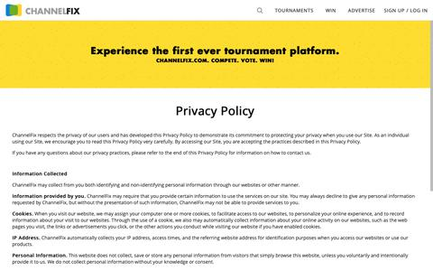 Screenshot of Privacy Page channelfix.com - Privacy Policy - ChannelFix.com - captured Sept. 27, 2018