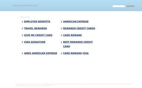 Screenshot of Home Page rewards-and-benefits.com - rewards-and-benefits.com - rewards-and-benefits Resources and Information. - captured Oct. 24, 2018