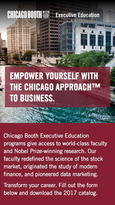2017 Catalog Inquiry | Chicago Booth Executive Education