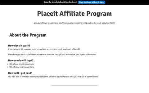 Screenshot of placeit.net - Placeit Affiliate Program - captured Jan. 22, 2018