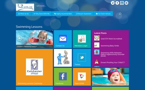 Screenshot of Home Page swim-with-me.co.uk - Swimming Lessons   Swim With Me - captured Nov. 16, 2017