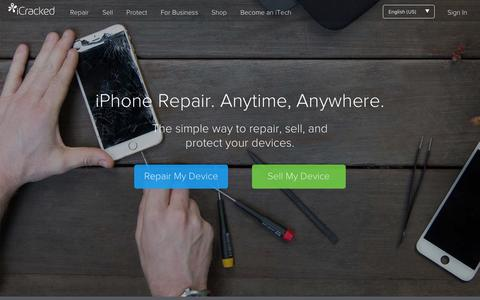 Screenshot of Home Page icracked.com - Fix iPhone and iPad Screen - Sell iPhone | iCracked - captured March 15, 2016