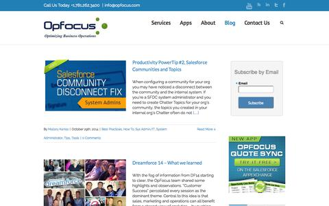 Salesforce and Marketing Operations Blog | OpFocus, Inc.