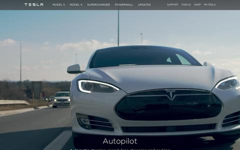 Screenshot of Home Page teslamotors.com - Tesla Motors | Premium Electric Vehicles - captured Feb. 14, 2016