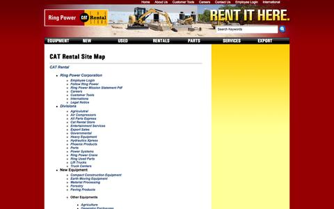 Screenshot of Site Map Page ringpower.com - CAT Rental Site Map - captured Oct. 26, 2014