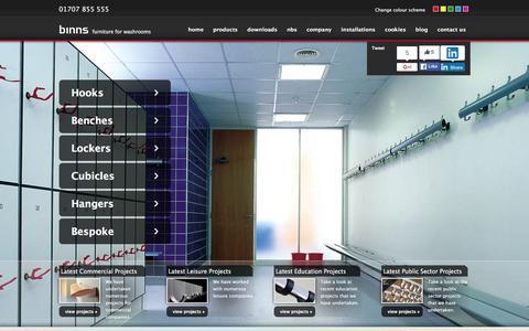 Screenshot of Home Page ajbinns.com - Homepage - captured Feb. 4, 2016