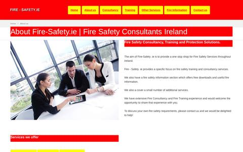 Screenshot of About Page fire-safety.ie - Fire Safety Consultancy Dublin Ireland   About Us - captured Nov. 25, 2016