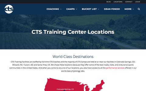 Screenshot of Locations Page trainright.com - CTS Locations - CTS - captured April 1, 2018