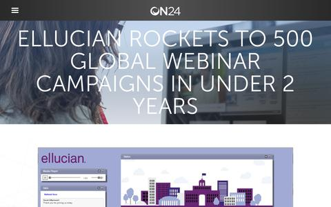 Screenshot of Case Studies Page on24.com - Case Study: Ellucian's demand generation skyrockets   ON24 - captured Oct. 12, 2017