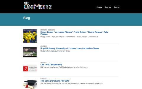 Screenshot of Blog unimeetz.com - Blog - UniMeetz - captured Oct. 6, 2014