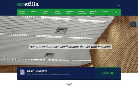Screenshot of Home Page ecostilla.com - Pulizia uffici e servizi integrati per le aziende - captured Jan. 25, 2016