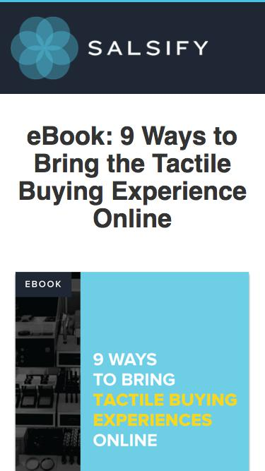 eBook - 9 Ways to Bring Tactile Buying Experiences Online
