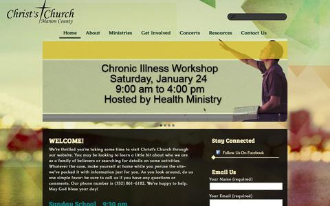 Screenshot of Home Page ccomc.org - Christs Church of Marion County - captured Jan. 23, 2015