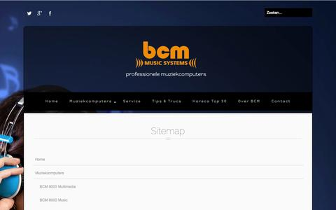 Screenshot of Site Map Page bcmmusic.nl - Sitemap van BCM Music Systems - captured Nov. 2, 2014
