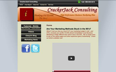 Screenshot of Home Page Privacy Page Terms Page crackerjack-consulting.com - CrackerJack Consulting - captured Oct. 6, 2014