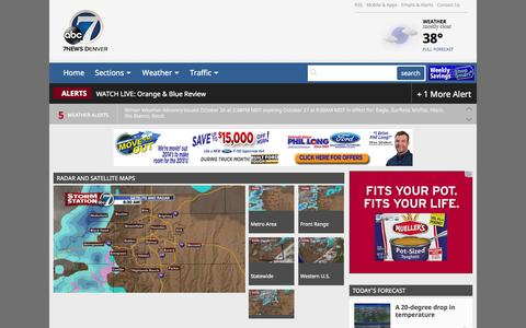 Screenshot of Maps & Directions Page thedenverchannel.com - 7NEWS Denver | Colorado weather radar and satellite maps | 24/7 Weather Center | The Denver Channel | KMGH-TV - captured Oct. 27, 2014