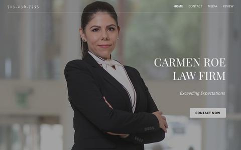 Screenshot of Home Page carmenroe.com - HOME | Carmen Roe Law Firm - captured Nov. 10, 2018