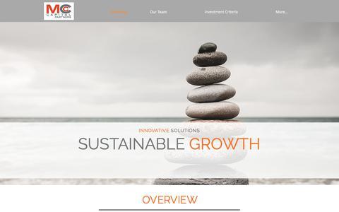 Screenshot of Home Page mcc-cap.com - MCC Capital Partners - captured Sept. 29, 2017