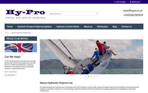 Screenshot of About Page hypro.co.uk - About Hy-Pro & Our Marine Accessory Range | Hy-Pro - captured Nov. 2, 2014