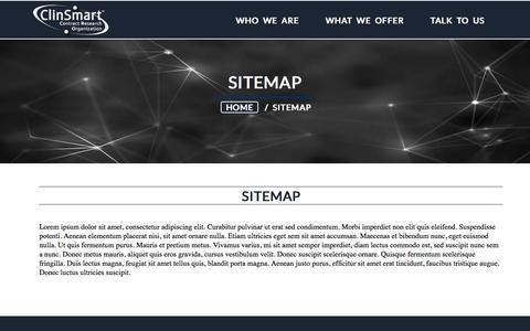 Screenshot of Site Map Page clinsmart.com - ClinSmart >> Sitemap - captured Nov. 7, 2016