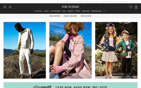 Screenshot of Home Page theiconic.com.au - Clothes Online | Shoes Online | THE ICONIC - captured July 5, 2019