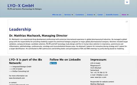 Screenshot of Team Page lyo-x.com - Leadership - LYO-X GmbH - captured Nov. 9, 2018