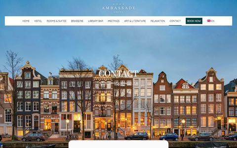 Screenshot of Contact Page ambassade-hotel.nl - Ambassade Hotel - Contact - captured May 29, 2017