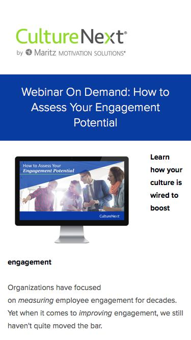 Webinar On Demand: How to Assess Your Engagement Potential