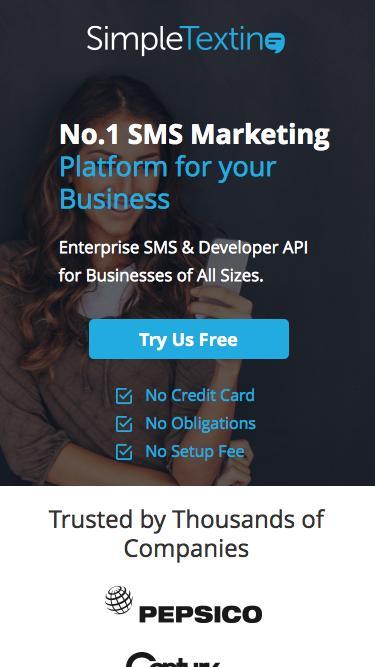 SMS Marketing   Text Message Marketing   Free Instant Setup