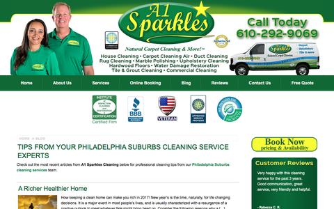 Screenshot of Blog a1sparkles.com - Our Carpet Cleaning Blog by A1 Sparkles' Cleaners - captured May 28, 2017