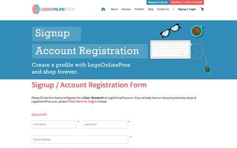 Screenshot of Signup Page logoonlinepros.com - Signup / Account Registration - captured Dec. 11, 2015