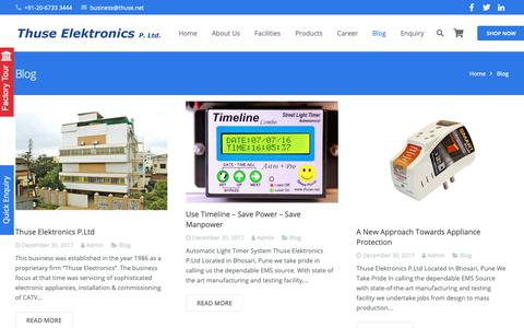 Screenshot of Blog thuse.net - Blog – Thuse Elektronics P. Ltd. - captured Nov. 16, 2018