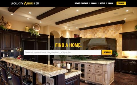 Screenshot of Home Page localcityagents.com - Arizona Real Estate, Homes For Sale, Sold Listings | Local City Agents - captured Oct. 1, 2014