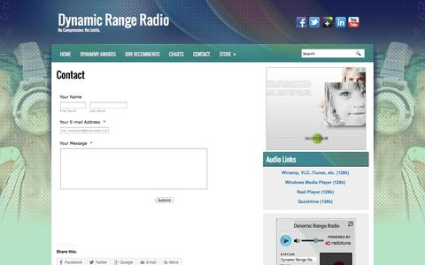 Screenshot of Contact Page dynamicrangeradio.ca - Contact - Dynamic Range Radio | Dynamic Range Radio - captured Sept. 30, 2014