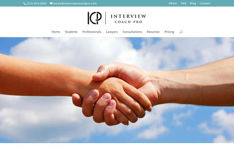 Screenshot of Contact Page interviewcoachpro.com - Contact - Interview Coach Pro - captured Nov. 6, 2018