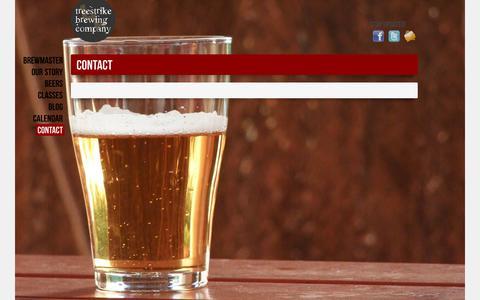 Screenshot of Contact Page treestrike.com - Contact | TreeStrike Brewing Company - captured Oct. 7, 2014